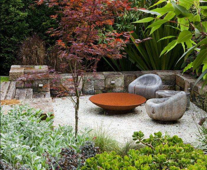 Vuurschaal for Small garden designs australia